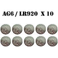 10x 1,55V botón pilas de botón pila de reloj pilas AG6AG-6LR920LR69LR921GP371
