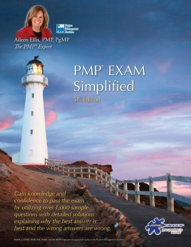 Portada del libro PMP® Exam Simplified: Aligned to PMBOK Guide 5th Edition (PMP® Exam Prep Series) (Volume 4) by Aileen Ellis PMP (2013-06-17)