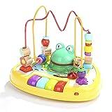 LXWM Froschmusik Runde Perlen Musik Beleuchtung Baby Tastatur Baby Lernspielzeug