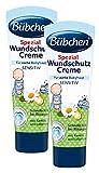 Bübchen Spezial Wundschutz Creme, sensitive Wundheilsalbe, Wund- und Heilsalbe für zarte Babyhaut, mit Kamille und Lebertran, Menge: 2 x 75 ml
