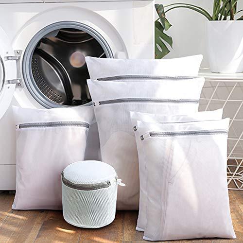 Suntapower Set von 6 Mesh Wäschesäcke, Wiederverwendbar Mesh-Reißverschluss Wäsche Waschen Taschen für Maschinenwäsche Dessous, Strumpfhosen, Socken und Unterwäsche,Grau - Mesh-tasche Wäsche-waschen Für