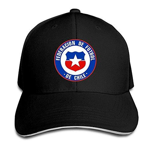 Hittings Chile Football Team Sandwich Peaked Hat/Cap Black