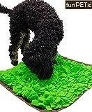 funPETic Schnüffelteppich Handgefertigt 45 x 50 cm – verhindert Schlingen, Schnüffeldecke fördert natürliche Nahrungssuche und artgerechte Auslastung, Intelligenz-Spielzeug für Hunde und Katzen - 5