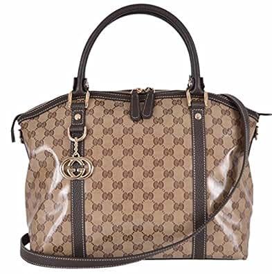 1ad810278ce5 Gucci Women s Leather Handbag (Brown)  Amazon.in  Shoes   Handbags