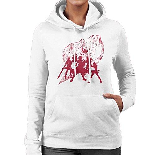 Power Fairytail Women's Hooded Sweatshirt white