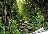 PMP 4life. XXL Poster Tropischer Dschungel   140x100cm   hochauflösendes Wand-Bild, Natur Poster extra groß, XL Fotoposter   Wand-deko Bild Jungel Wald Bäume Regenwald