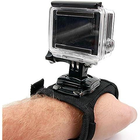 Correa de muñeca con soporte giratorio para cámaras deportivas Sony HDR-AS50 / Kaiser Baas X150 / Eken H9 - DURAGADGET