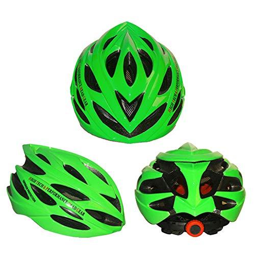 HS-GUANLY Outdoor-Reiten mit Insektennetz belüfteten Mountainbike Helm Einteiliger Helm Aerodynamische Bewegung PC Road Mountain Bike CE Zertifizierung Fahrradhelm,Green,57~62cm (Green Mountain-kamera)