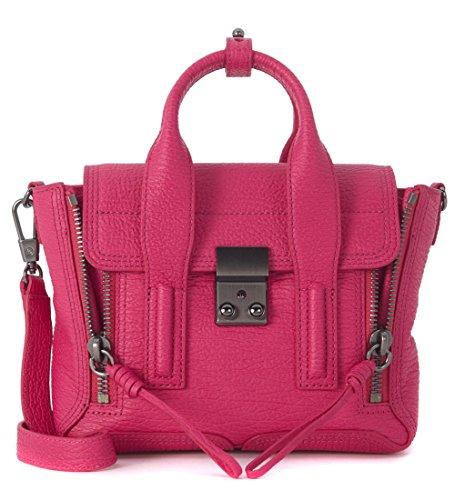 31-phillip-lim-pashli-handtasche-mini-satchel-aus-edlem-genarbtem-leder-fuchsia