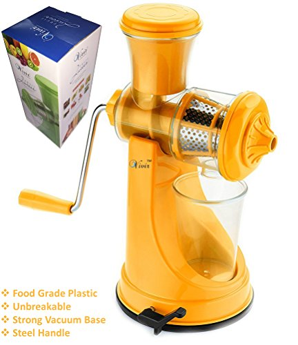 Vivir® Fruit And Vegetable Juicer With Steel Handle And Vacuum Base (orange)