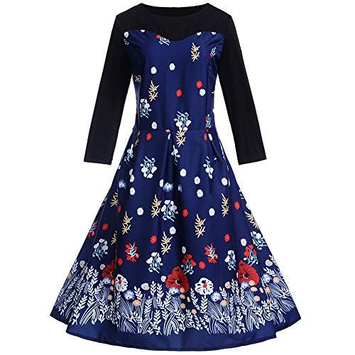 VEMOW Herbst Frühling Elegante Damen Abendkleid Cocktailkleid Frauen -