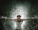 Fotografía firmada de Hugh Jackman (Wolverine) de edición limitada, con certificado y autógrafo impreso