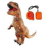 Juego Inflable de Dinosaurio Adulto Blow up Disfraz Unisex Innovador Juguete Halloween Navidad Cosplay Fiesta Inflable Spoofing Traje Props