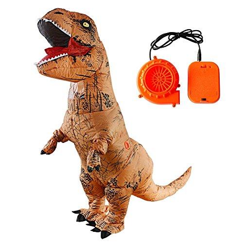 WXGY Jurassic World Aufblasbare T-Rex Dinosaurier Kostüm Body Mit Gebläse für Erwachsene Und Kinder Party - Trex Kinder Kostüm