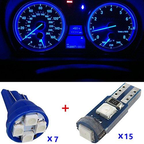 WLJH LED Instrument ampoule Gauge Cluster 7 pcs 194 T10 + 15 pcs 74 T5 3030smd lumière LED kit pour 1995 1996 1997 Jimmy