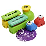 #1: AsianHobbyCrafts Crafts Paper Punch: Pack of 5pcs : (Assorted)