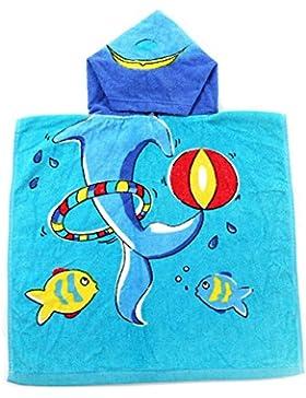 Highdas Kinder Bad Handtuch Baby Kinder Kapuzen Poncho Baumwolle 50 * 100cm