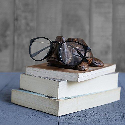 Store Indya, Klassische Hand geschnitzte Palisander Schildkrote geformter Brille Spectacle Inhaber stehen Geschenke fur Sie oder Ihn