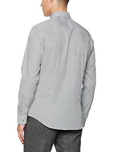 Seidensticker Herren Langarm Hemd UNO Super Slim Modern Kent grau / weiß strukturiert 675360.31 Grau
