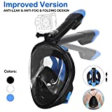 Unigear Snorkel Mask,180 Degree Viewing Diving Mask Full Face Free Breathing Design Anti-fog