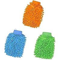 3pcs Chenille Gants de Nettoyage, Gant de Lavage Voiture, Gant de Lavage Microfibre pour la Voiture, pour Voiture et…