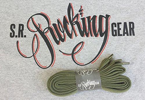 Rocking Gear Phat Laces extra breite Schnürsenkel (Grün / Kelly (Kelly Schuhe Grün)