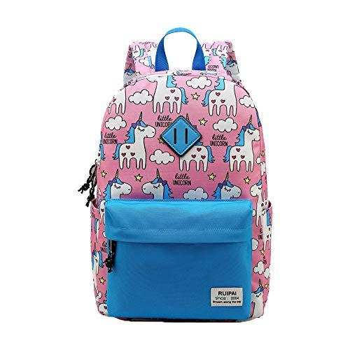 Kinder Jungen Mädchen Kleinkind Einhorn Kindergarten Wandern Reise Schule Buch Tasche Pink Blau Grün, Style 1 Pink (Pink) - ZYS6119-Bluebird ()