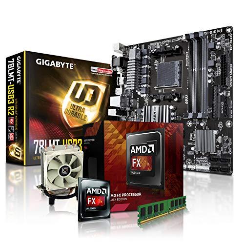 PC Aufrüstkit AMD, FX-8350 8x4.0 GHz, 8GB DDR3, Radeon HD3000-1GB, Mainboard Bundle, Tuning Kit, fertig montiert, Spiele Office zusammengestellt in Deutschland Desktop Rechner