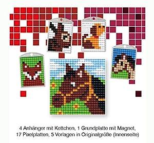 Pracht Creatives Hobby P90034-63501 - Juego de Manualidades para Manualidades (14 Piezas, para 4 medallones, Llavero, para niños, niños y niñas, Ideal como pequeño Regalo, para cumpleaños Infantiles)