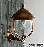 Wasserdichte Outdoor Wand leichte kontinentale Balkon Licht Außenbeleuchtung Innenhof Terrasse Lampen Garten Rostschutzmittel Korridor hyun Ausschalten der Scheinwerfer, schwarz