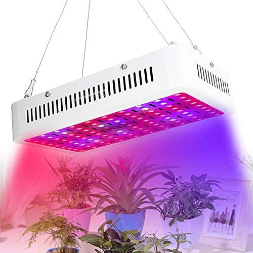 Full Spectrum Reflektor (NANANA Pflanzenlampe Zimmerpflanzen Reflektor, 900W Full Spectrum Double Chip Square Lampe für Innenwasserkulturgewächshauspflanzen Veg)