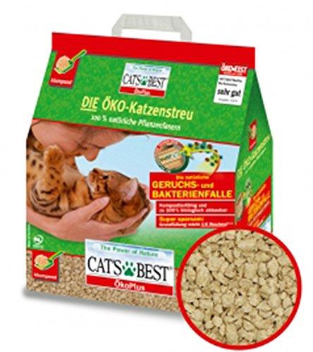 CAT\'S BEST Öko Plus Katzenstreu 4 x 10l