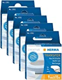 5er Pack Herma 1061 Nachfüllkassette für (Kleberoller, ablösbar, 9mm x 15m)