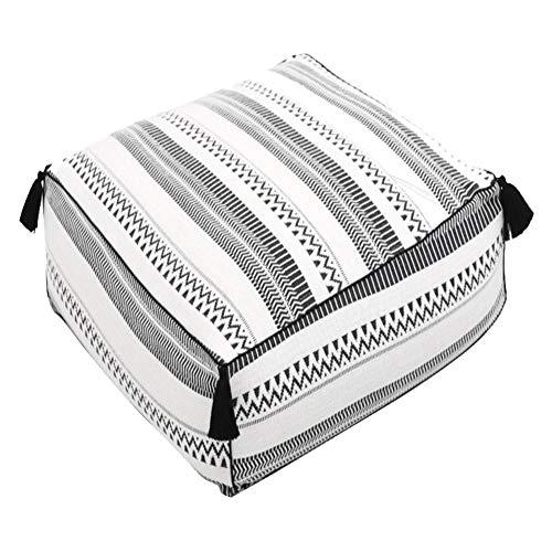 MSQL Lounger Sitzsack Sitzsack Bequem Und Spaß Sitzsack, Geeignet Für Die Ganze Familie, Mit Reißverschluss Für Reinigung, Square Knit Kissen - Spa-square-kissen
