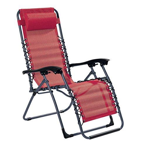 MQ Relax-Liegestuhl | Belastbarkeit 120 kg | klappbar | stufenlose Verstellung | Stahlkonstruktion |...