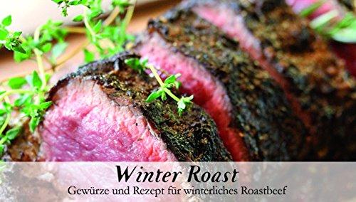 Winter Roast - 8 Gewürze für winterliches Roastbeef (42g) - in einem schönen Holzkästchen - mit Rezept und Einkaufsliste - Geschenkidee für Männer und Feinschmecker - von Feuer & Glas