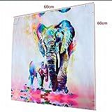 3pcs Cuadro Pintura de Pared Impresión de Elefantes Moderna de Lona Arte Decoración Salón Regalo - Multicolor, 60cm * 60cm