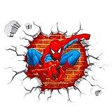 Polly Online 2PCS Pegatinas de Pared del Hombre araña Calcomanías de Spiderman Pegatinas de Pared 3D para la habitación de los niños