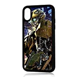 (For iPhone XS MAX) Durable Protective Soft Back Case Phone Cover - HOT11165 Bumblebee