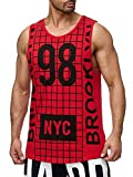 Red Bridge Herren Fitness Brooklyn NYC Oversize Tank Top Freizeit Muskelshirt Rot L