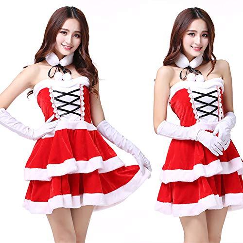 CWZJ Weihnachts-Kostüm Halloween-Party Cosplay Uniform Niedlich Verpackt Hofmädchen Rock