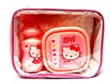 Hello Kitty Children's Lunch Bag Set - Bag with handle strap, Lunch Box and Sports Bottle