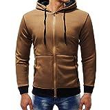 Sweatshirts Herren Pullover Herbst Winter Casual Reißverschluss Langarm Fleece Hoodie Streetwear Top Bluse Mantel SANFASHION