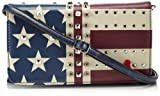 Poodlebag Handtaschen Damen Over-Cross-Tasche aus Art Design Leather mit Nieten im USA Flaggen Design Funkyline Flag Saturday