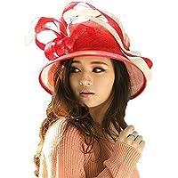 Yiwuhu Sombrero de cáñamo Puro del Arte de la Mano Sombrero Femenino Superior Plano de la Pluma Decorativa de la Pluma del Verano. Simple