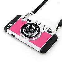 iPhone 7/7Plus caso, Guojia 3d Cool diseño de cámara PC + silicona Carcasa Cover con Correa Larga cuerda para niñas y niños (dureza moderada)