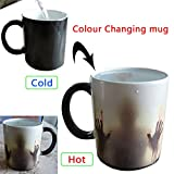 Color Changing Coffee Mug Magic black Heat Sensitive Ceramic Tea Water Cup