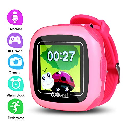 PHRtoy Game Smart Watch for Kids,[10 Games][Alarm Clock][Pedometer] [Camera] Smart Watch for Kids - Nice Birthday for Kids, Girls and Boys (pink)