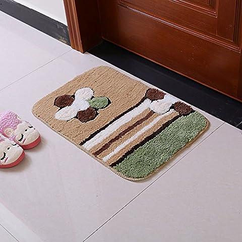 FQG* nel Gate pads mantiene le porte al dormitorio mat portico di piedi e i bagni, Anti-Rutsch-Pad idratazione stuoie, 50*80cm, fiori e pitture. - Fisher Price Fogli