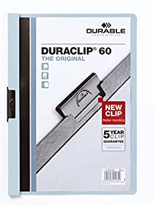 DURABLE Lot de 25 Chemises à clip DURACLIP ORIGINAL 60 A4 Bleu clair